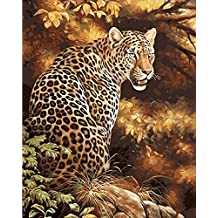 No Frame Cheetah Animals Diy Painting By Numbers Kits Paint On Canvas Acrylic Coloring Painitng By Numbers For Home Wall Decor