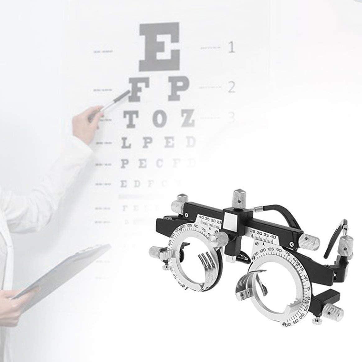Delicacydex Optom/étrie r/églable Lunettes professionnelles Optom/étrie Monture m/étallique Optique Optique Opticien Essai Lentille Monture m/étallique PD Accessoires de lunettes Argent et noir