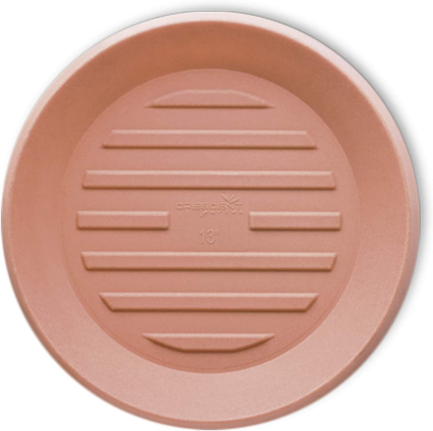 Crescent Garden Universal Round Saucer, Circular Saucer for Potted Plants, Weathered Terracotta (8-Inch Inside Diameter)