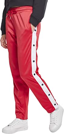 Urban Classics Women's Ladies Button Up Track Pants Sports Trousers, Multicolour