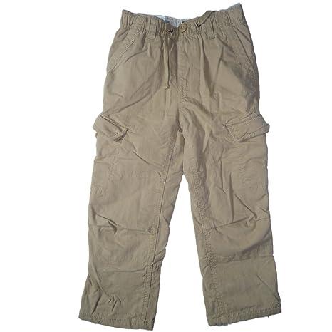 Gap de Pull On Niños Pantalones Beige plisadas 104