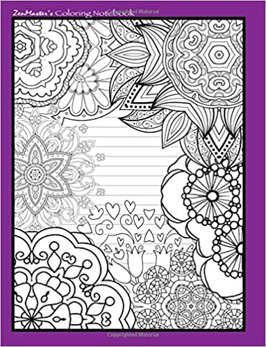 Coloring Notebook purple : Therapeutic notebook for writing ...