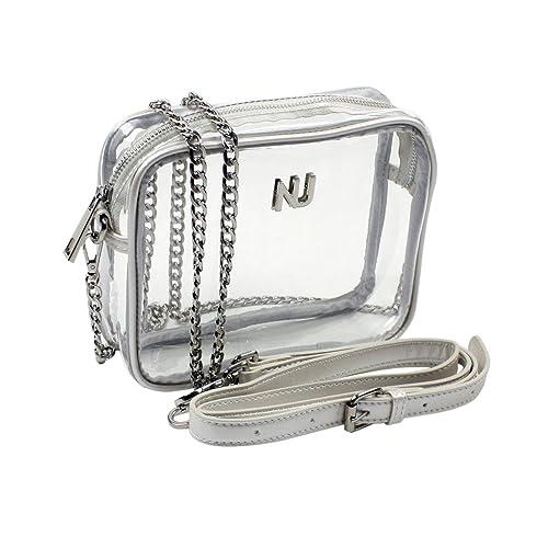 e5e42b28ae7b Nu Women Handbags Taylor Silver Clear Crossbody Bag