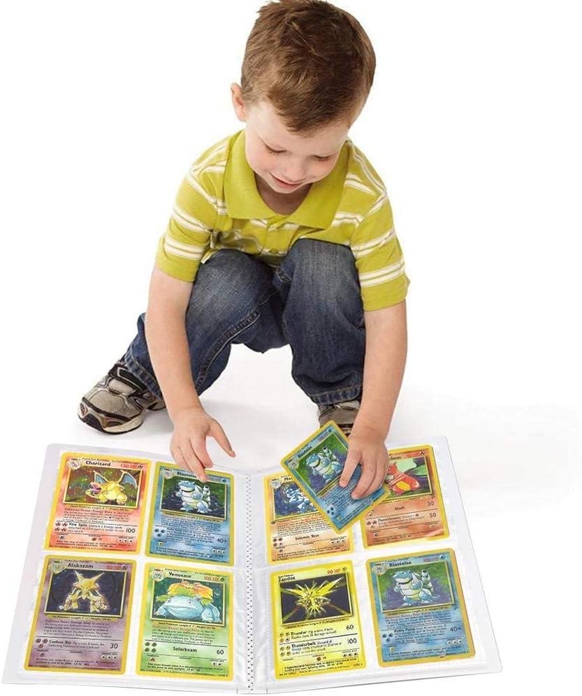 Album f/ür Pokemon Karten UHIPPO 30 Seiten-120 Taschen-H/ält 120 Einzelkarten oder 240 Doppelkarten Sammelkarten-Aufbewahrungsalben Mewtwo VS Mew Kartenschutz Sammelkartens/ätze R/ücken an R/ücken