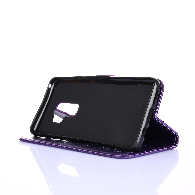 Lavendel Samsung S9 plus H/ülle,Alfort Samsung S9 plus Schutzh/ülle Simulations Retro Ledertasche Lederh/ülle PU Leder Tasche Wallet Case f/ür Samsung S9 plus Smartphone