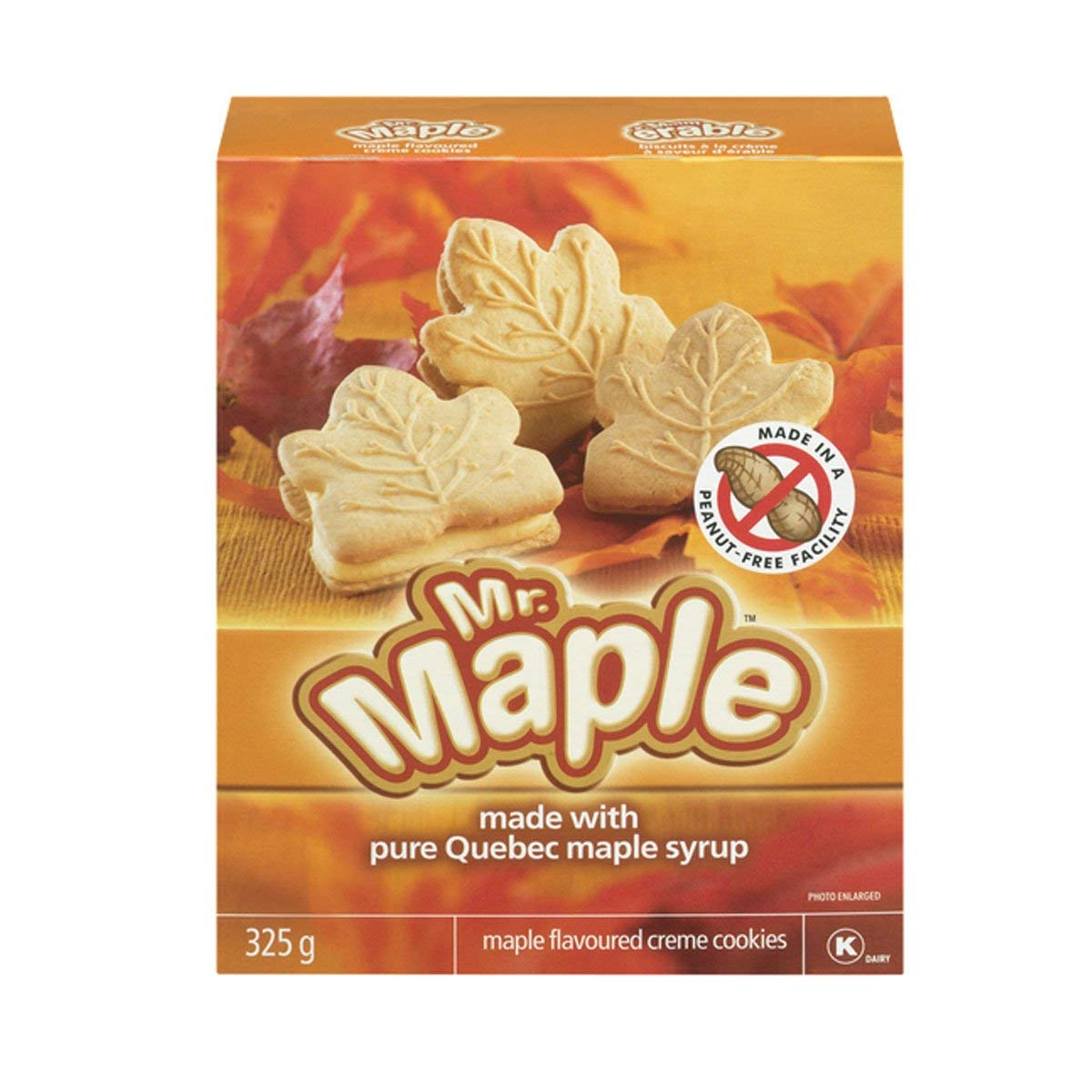 Mr. Maple Maple Flavoured Creme Cookies 325g - {Imported from Canada}