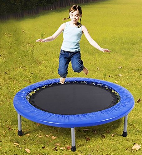 K&A Company 38'' Mini Band Exercise Trampoline with Padding & Springs 220 lbs Capacity Carry Bag by K&A Company