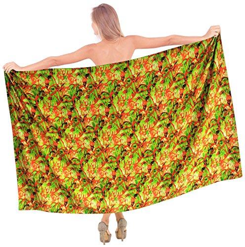 LA LEELA Bikini Pareo Sarong Wickeln Resort Badeanzug Strandabnutzungs Vertuschungen Frauen Kleid