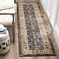 Safavieh Bijar Collection BIJ650B Traditional Oriental Vintage Royal Blue and Ivory Runner (23 x 8)