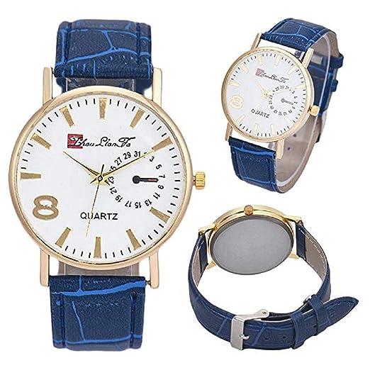 Reloj de Cuarzo para Hombres, Reloj de Cuero Hombres, Hombres, Hombres y Mujeres