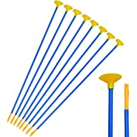 12 Pack 18 Inch Children Arrows Youth Sucker Arrows Safe Shooting Replacement Suction Cup Arrows Kids Game Arrows