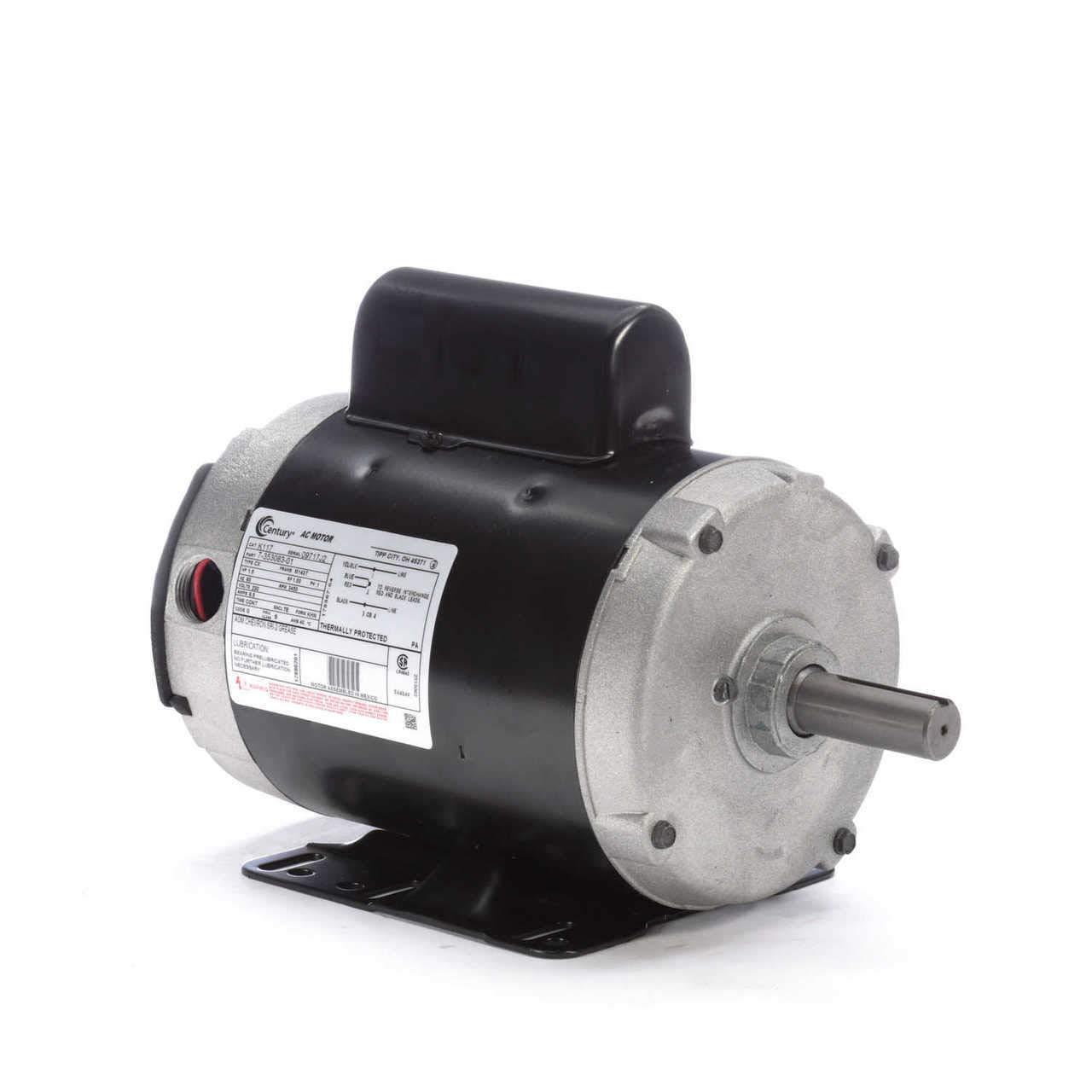 1.5hp 3600RPMAeration Farm Motor 143T Frame 230volts AO Smith/Century Electric Motor # K117