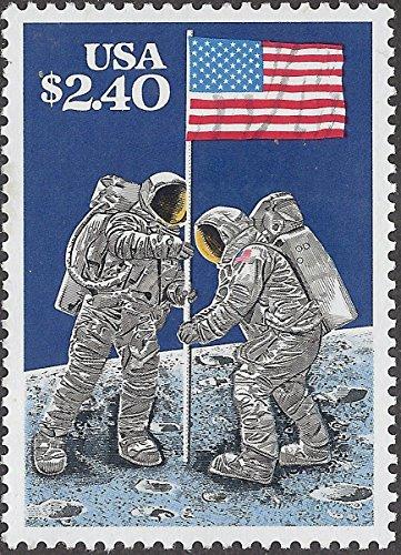 1989 Moon Landing $2.40 USA Flag Postage Stamp MNH Scott #2419