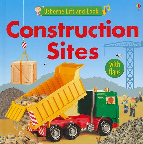 Construction Sites (Usborne Lift and Look Board Books) (Building & Construction Machinery Equipment & Tools)
