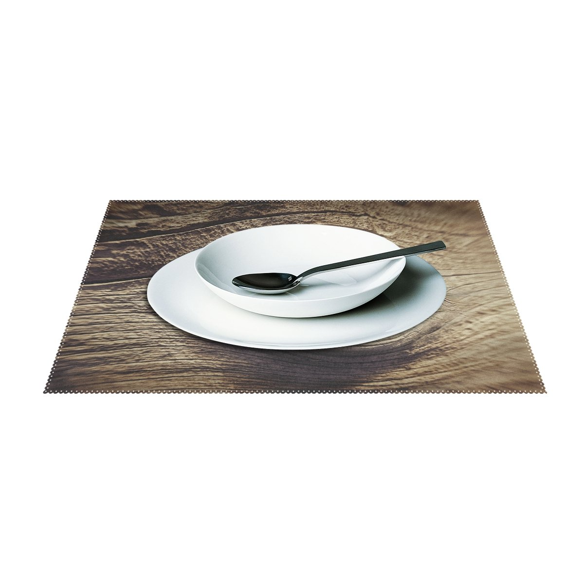 WIEDLKL Eye Wood Knothole Wood Eye Brown Wooden Structure Placemats Set Of 4 Heat Insulation Stain Resistant For Dining Table Durable Non-slip Kitchen Table Place Mats by WIEDLKL (Image #3)