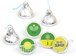 product image for You Got Served - Tennis - Baby Shower or Tennis Ball Birthday Party Round Candy Sticker Favors - Labels Fit Hershey's Kisses (1 Sheet of 108)