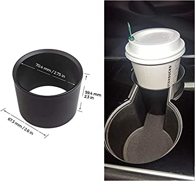 Water Cup Holder Drinks Expander Adapter Fit For Tesla Model 3 Durable