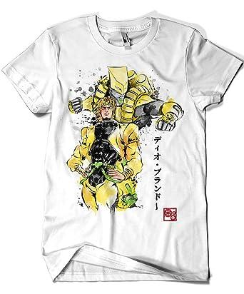 Camisetas La Colmena 3460-Camiseta Premium, Jojos Bizarre Adventure - ZA Warudo (Dr.Monekers): Amazon.es: Ropa y accesorios