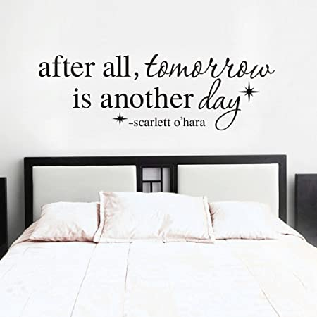 after all tomorrow is another day wall decal scarlett o hara quote