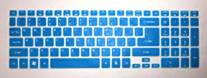 "BingoBuy Semi-Blue Ultra Thin Silicone Keyboard Protector Skin Cover for Acer Aspire E1-510 E1-510P ES1-512 E5-511 E5-511P E5-521 E5-521G E1-522 E1-530 E5-531 E1-532 E1-532P E5-551 E5-551G E1-570 E5-571 E5-571G E5-571P E5-571PG E1-572 E1-572P E1-731 E1-771 E5-721 E5-731 E5-771 E5-771G V5-561 V5-561PG V5-561G V5-561P V3-571 V3-571G V15 V3-572 V3-572G V3-572P V3-572PG V3-772G V3-771 V3-771G V3-551 V3-551G V3-731 V3-731G VN7-791G series(if your ""enter"" key looks like ""7"", our skin can't fit) with BingoBuy Card Case for Credit, Bank, ID Card"