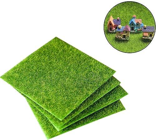 toruiwa Micro paisaje decoración artificial verde musgo césped artificial césped adornos para jardín Bonsai Casa Decoración DIY 1 pieza verde, 15cm*15cm: Amazon.es: Hogar