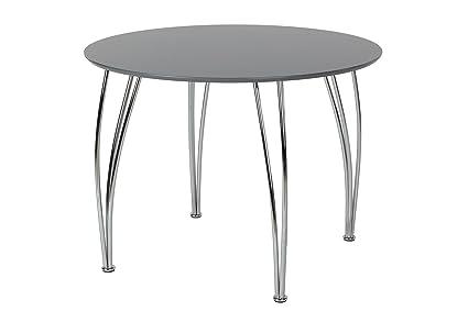 Amazoncom Novogratz Round Dining Table With Chrome Plated Legs
