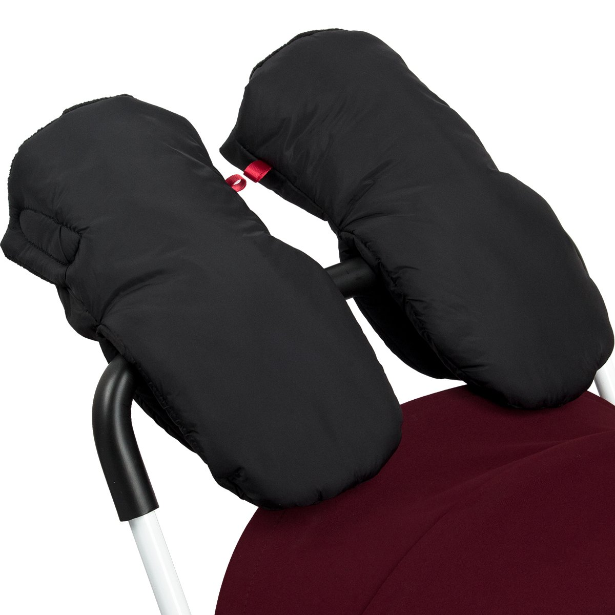 Biubee Stroller Hand Muff Winter Warm Pram Mitten Gloves for Parents and Caregivers Waterproof Anti-Freeze Black