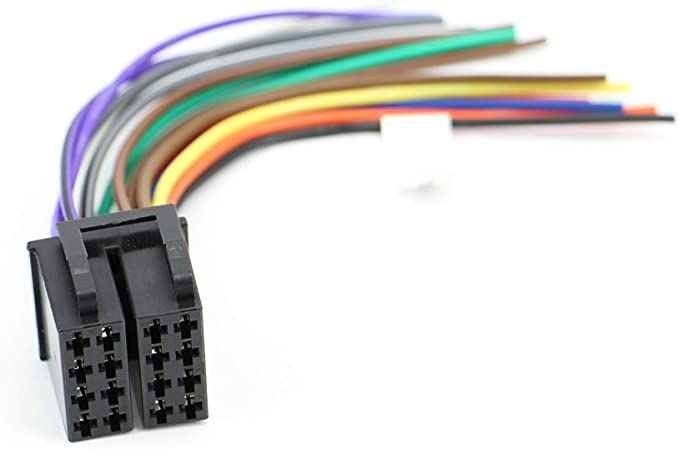 amazon.com: xtenzi car radio wire harness compatible with power acoustik cd  dvd navigation in-dash - xt1784  amazon.com
