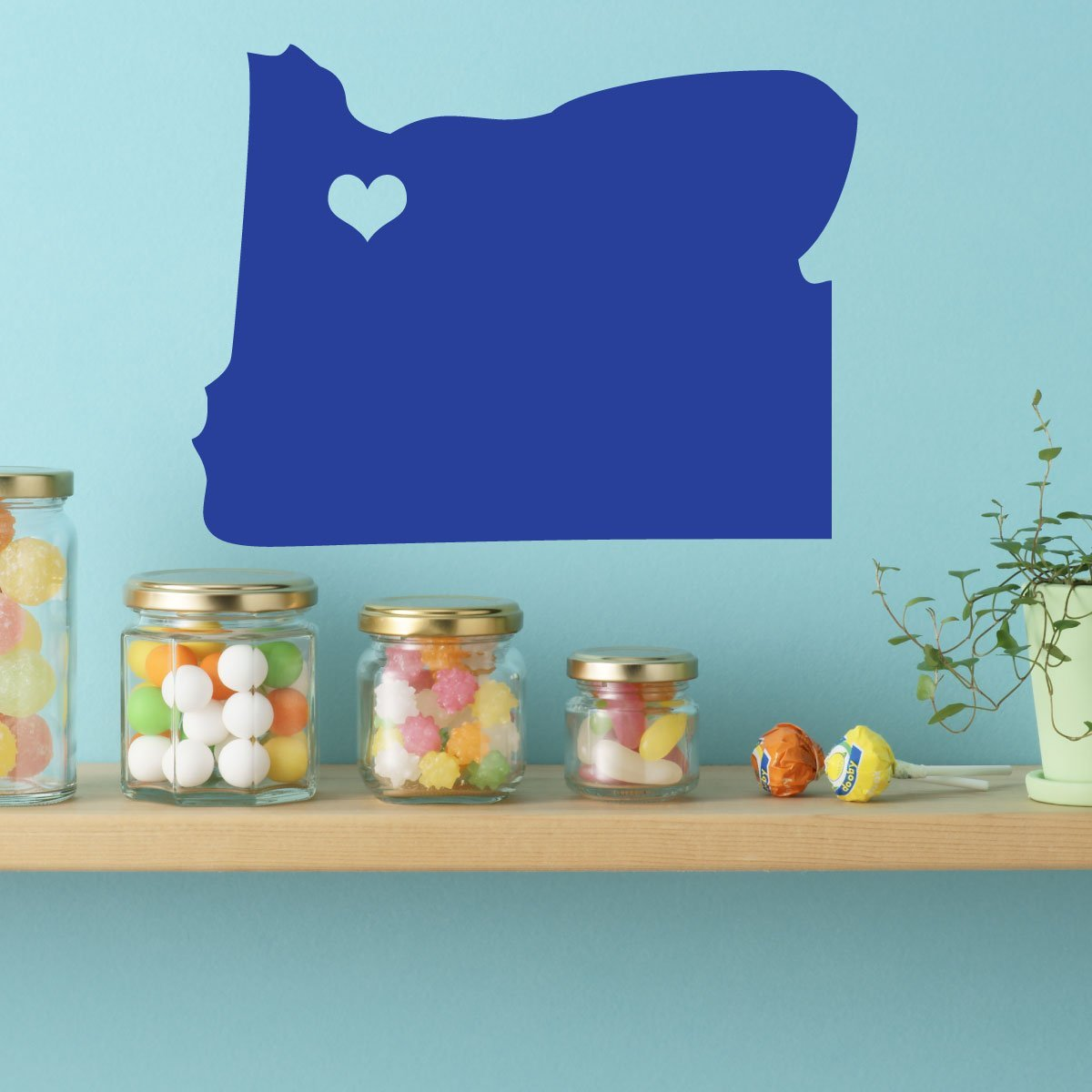 State Decals - Oregon Vinyl Wall Decor, 33rd State, Olympia Washington, Northeastern United States, The Beaver State