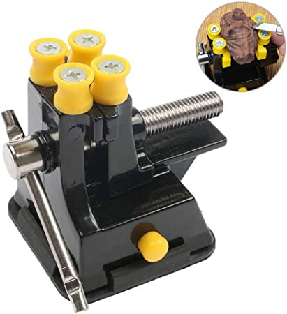 Mini Table Bench Vise Model Making Wooden Nut Carving Suction Vice Tools