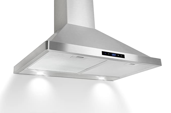 AKDY AZ63175S 30″ Kitchen Wall Mount Stainless Steel Range Hood