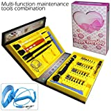 58 piece computer repair tool kit - QUIET 41 Piece Best 100% Precision Screwdriver Set Magnetic Tool Repair Kit, Professional Repiar for Smart phone, Laptops, Tablet, PC, Computer Electronic Devices Watch & DIY Etc