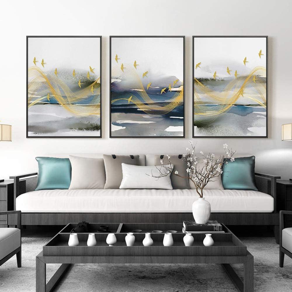 WSNDGWS Living Room Decoration Painting Light Luxury Geometric ...