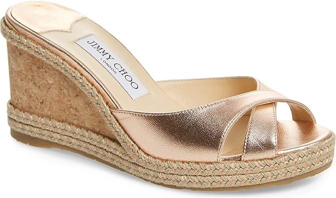 JIMMY CHOO Almer Wedge Slide Sandals