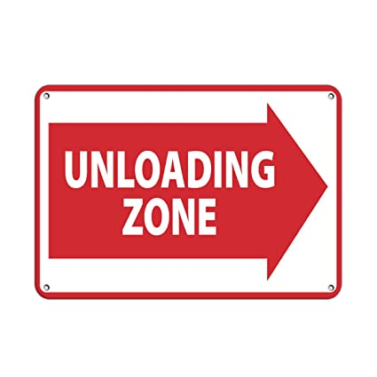 Amazon Unloading Zone Right Arrow Symbol Loading Zone Aluminum