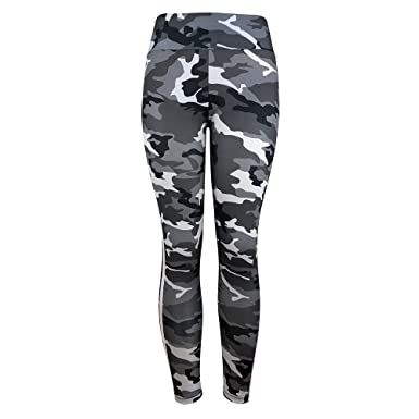 0f21cb55843fa Topgee Women Yoga Pants Camouflage Side Stripe High Waist Fitness Leggings  at Amazon Women's Clothing store: