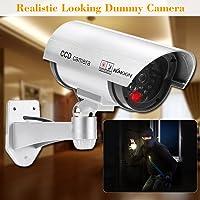 KKmoon Cámara Simulada Falsa Inalámbrico Impermeable Sistema de Vigilancia IR LED