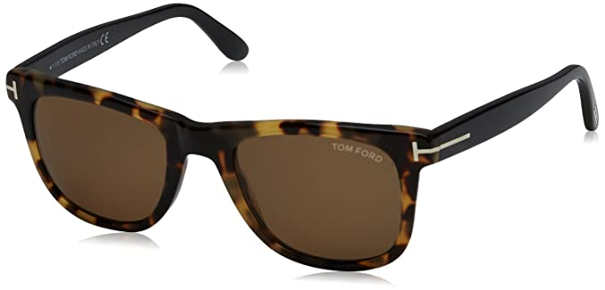 90f4d0c7fcc Tom Ford 336 55J Tortoise Leo Wayfarer Sunglasses Lens Category 3 Lens  Mirrored