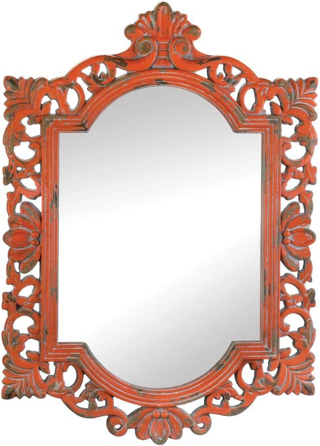 Wall Mirrors Decorative, Square Antique Rustic Vintage Coral Mirror Wall Art