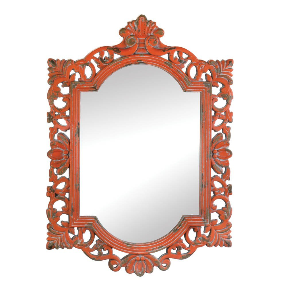 Accent Plus Mirror Wall, Rustic Contemporary Framed Square Vintage Coral Mirrors Wall Art