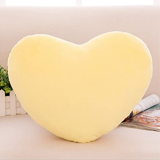 Zinsale Algodón Forma de corazón Almohadas de felpa Almohada ...