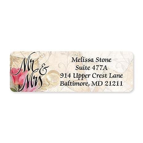 Amazon.com: Mr y Mrs. Romance funda enrollado etiquetas de ...