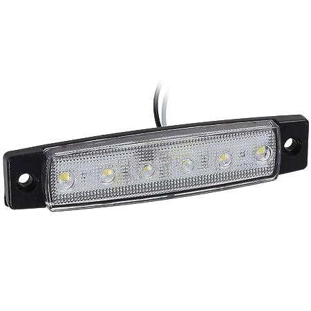 Yuk 10 pcs 9,7 cm 6 LED c/ôt/é LED MARKER Remorque Feux de gabarit pour camion partie arri/ère Feu de Gabarit marqueur lumi/ère Ambre camion Cab Feux de gabarit RV Convoi