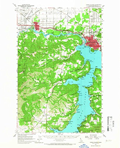 YellowMaps Coeur D Alene ID topo map, 1:62500 Scale, 15 X 15 Minute, Historical, 1957, Updated 1967, 20.9 x 17 in - Tyvek (Rockford Cherry)