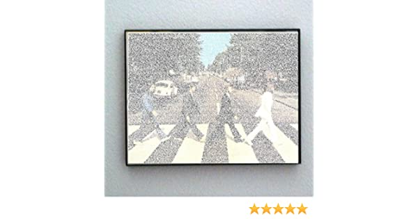 Amazon.com: Framed The Beatles Abbey Road 270 songs text print ...