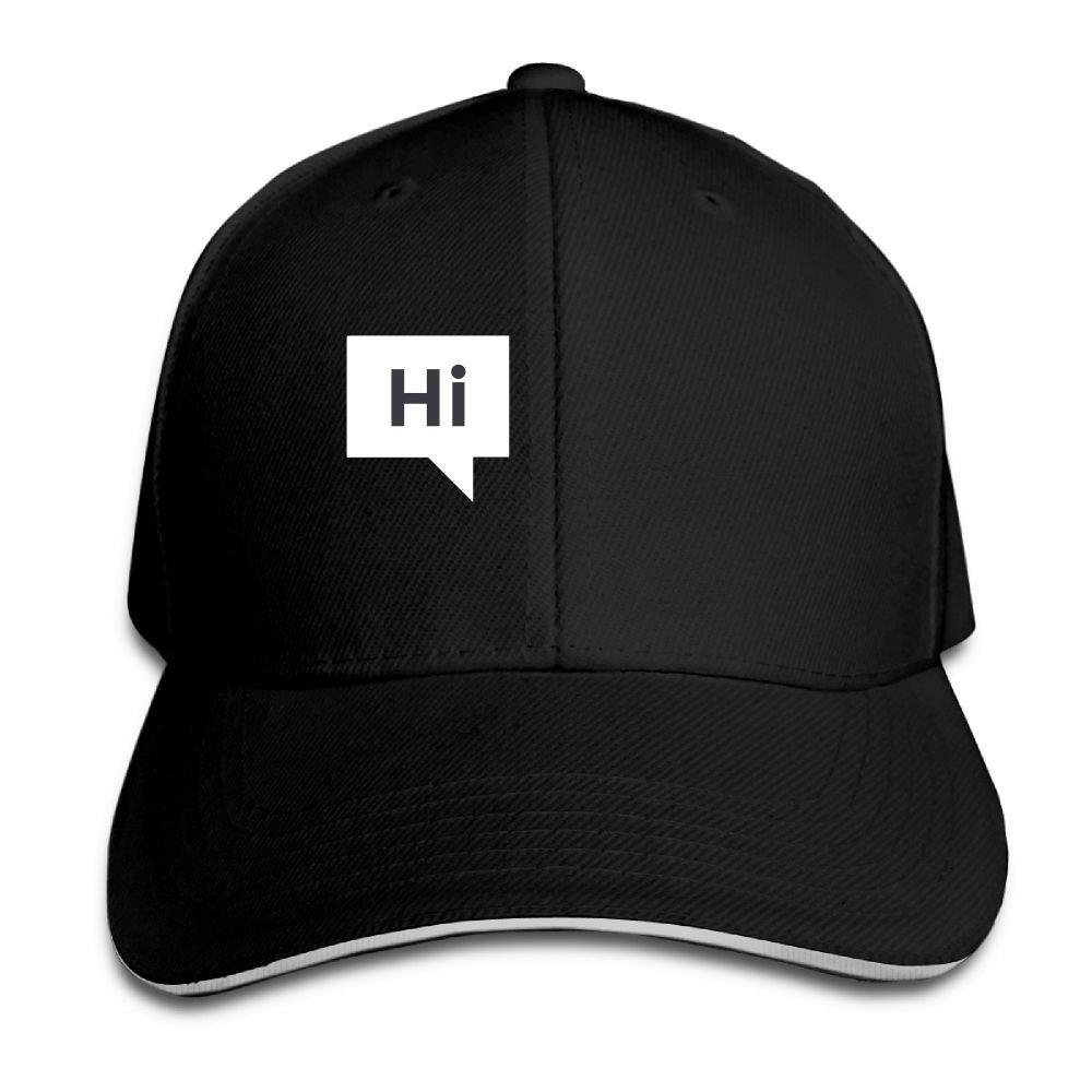 BUSEOTR Hi Baseball Caps Adjustable Back Strap Flat Hat