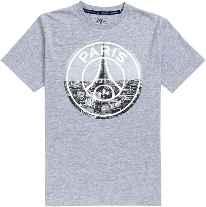 PSG - Camiseta Oficial de la Torre Eiffel, Color Gris: Amazon.es ...