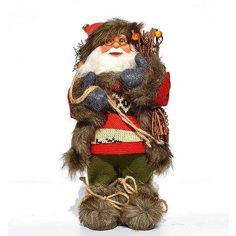 LINAG Papá Noel Muñeca para Navidad Decoración, Perchero De ...