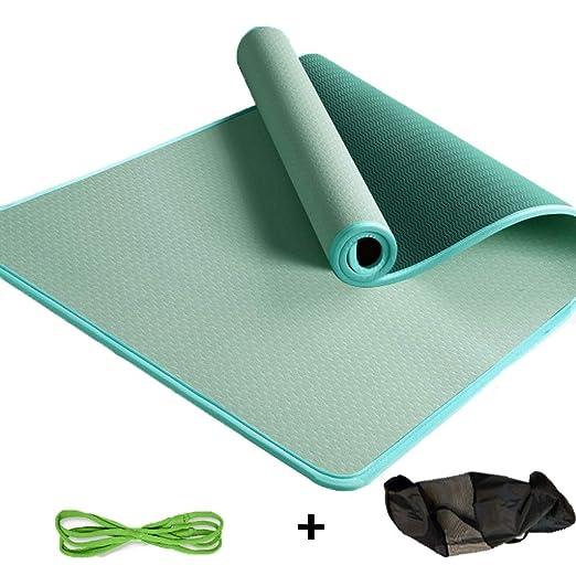 XWCPDM Estera de la Aptitud Yoga Mat Correa Verde Ripstop Y ...
