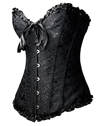 61fca473b51 Amazon.com  YAQKUOA Women Plus Size Corset Overbust Sexy Bustier corsets  Bodyshaper Top  Clothing